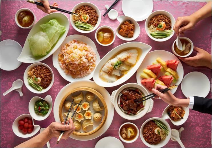 台北圓山圓苑餐廳4人分享餐。圓山大飯店/提供