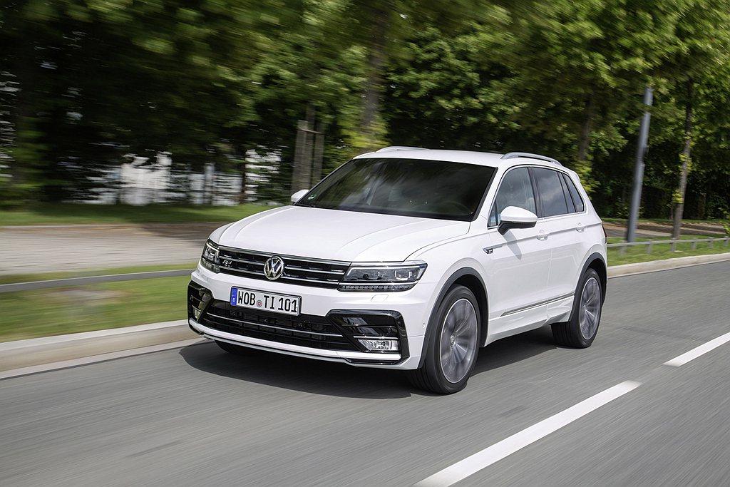 福斯Tiguan休旅車仍持續熱賣。 圖/Volkswagen提供