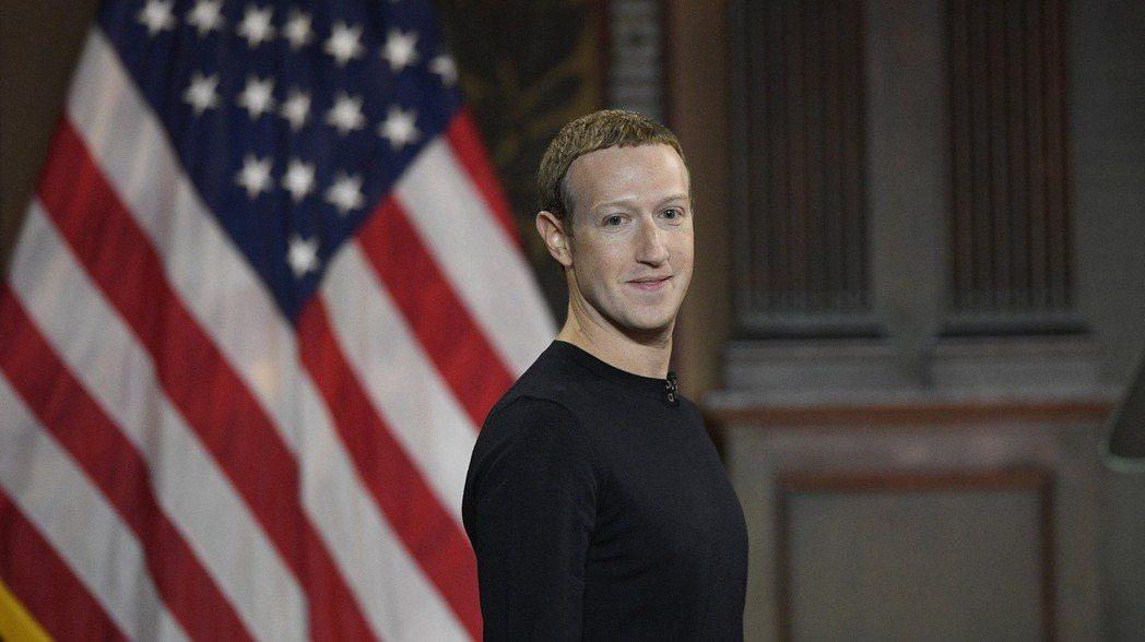 臉書創辦人兼執行長查克柏格17日在華府喬治城大學演講。   (美聯社)