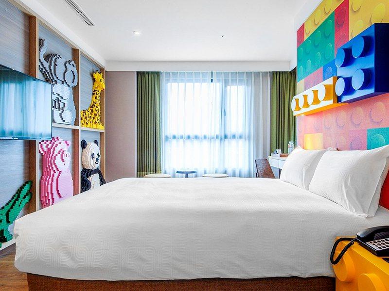兆品酒店礁溪飯店內吸睛的積木設計巧思,是眾多旅客嚮往入住的願望清單。圖/易遊網提...