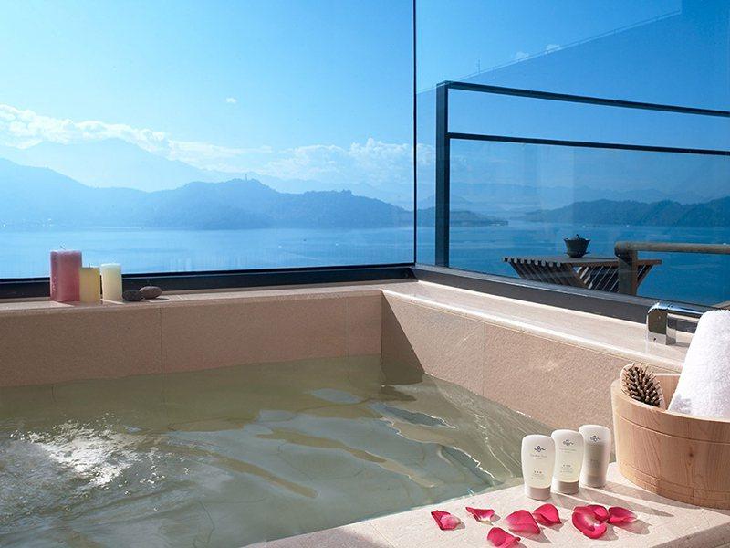 雲品溫泉酒店坐覽日月潭美景。圖/易遊網提供