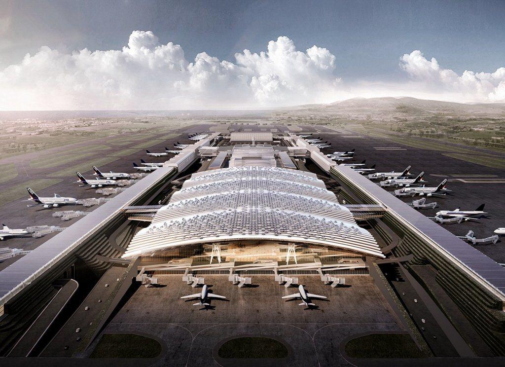 桃機第三航廈設計示意圖。圖/桃園機場公司提供