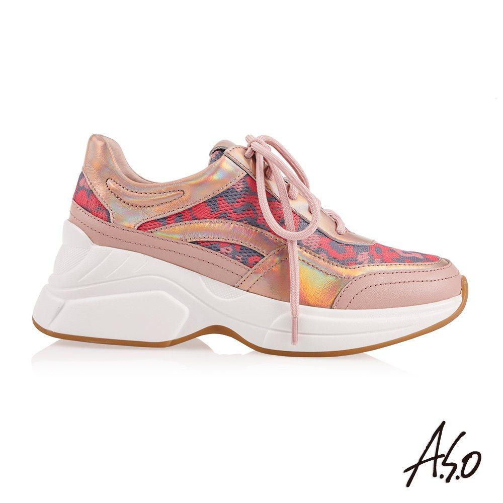 A.S.O上市全新的女款穩定健康系列休閒鞋,也列入2件以上6.5折的優惠。圖/阿...