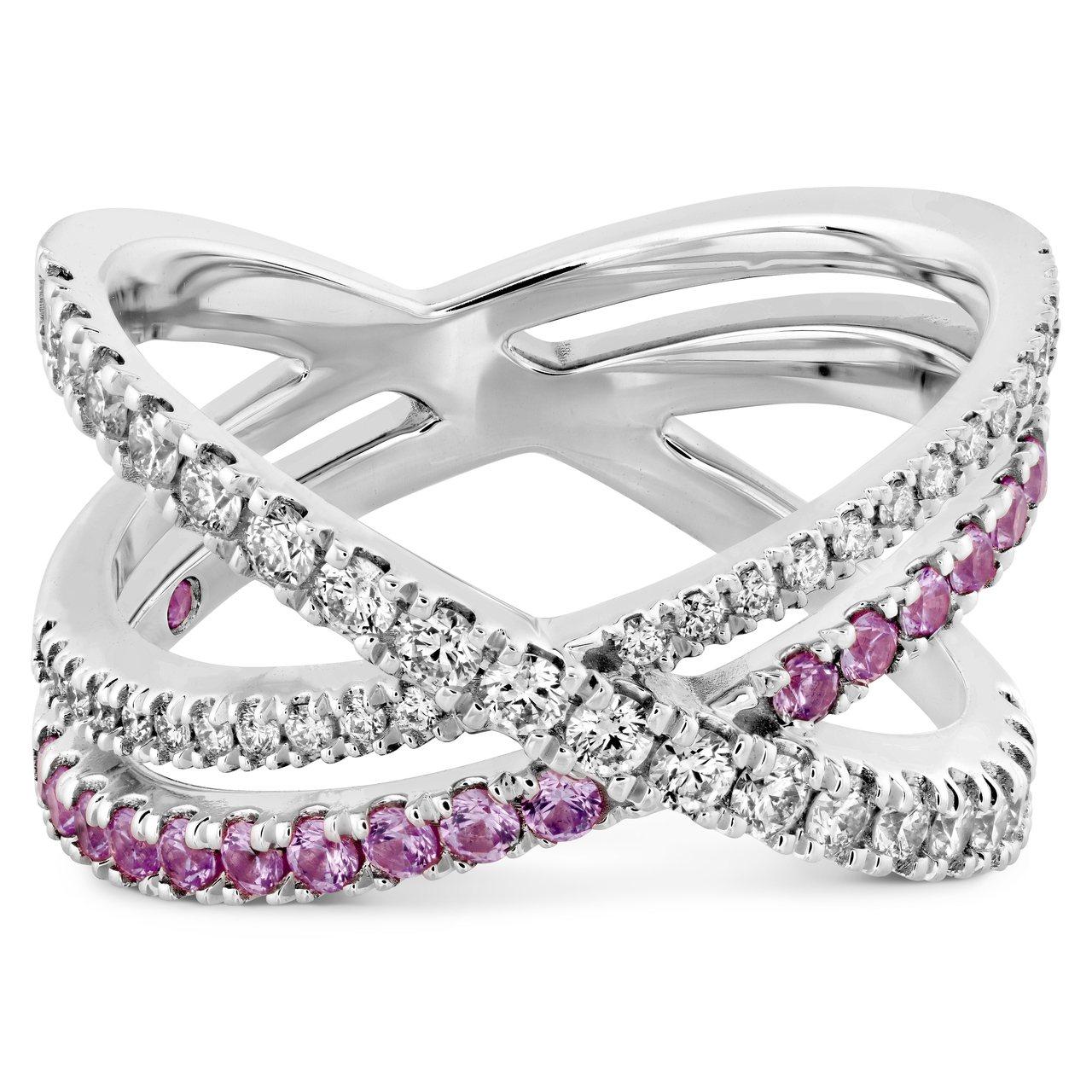 HARLEY WRAP戒指,白K金、鑽石、粉紅剛玉 ,售價12萬元。圖/HEAR...