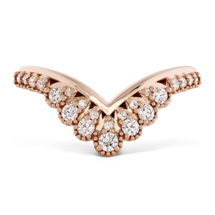 BEHATI SILHOUETTE戒指,玫瑰金、鑽石、粉紅剛玉,售價65,000...