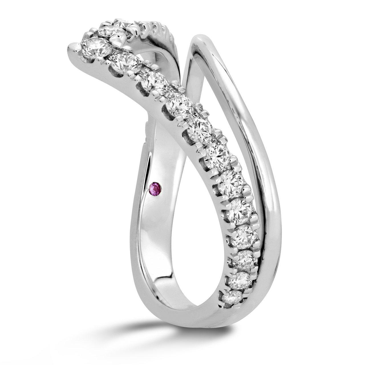 HARLEY SILHOUETTE戒指,白K金、鑽石、粉紅剛玉,售價89,000...