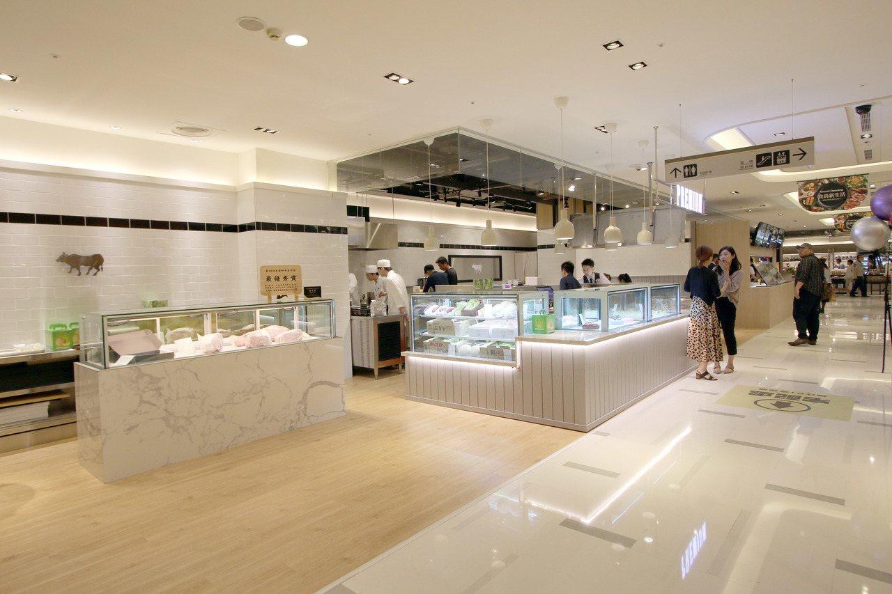 樂軒和牛在新光三越A4推出首家精肉舖品牌「樂軒 PREMIUM」。圖/新光三越提...