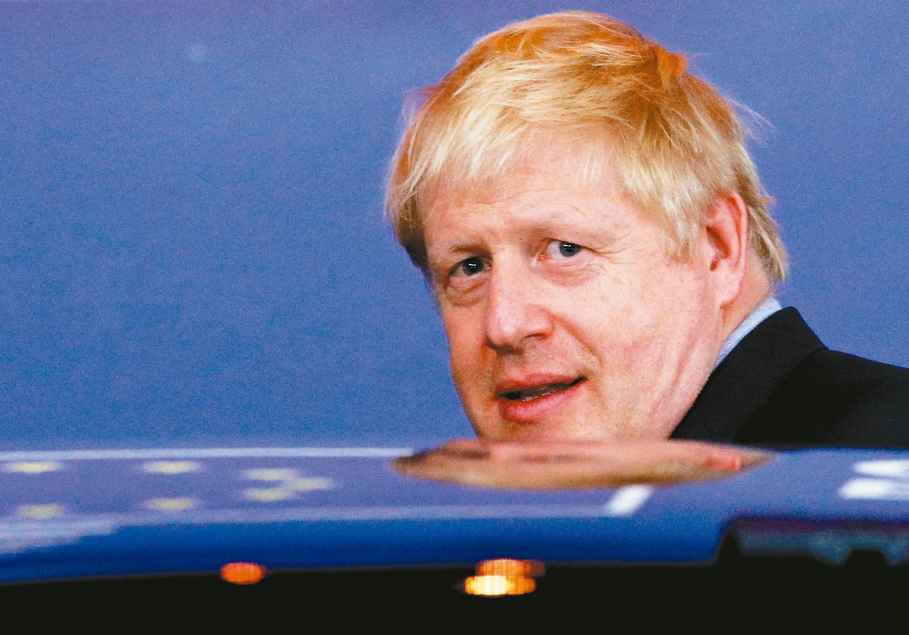 英國首相強生。 美聯社