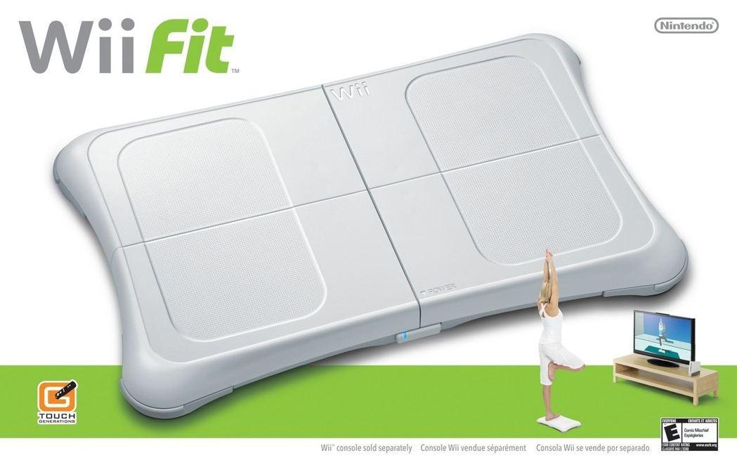 2007年《Wii Fit》推出,附帶一塊平衡板,讓玩家站在上面做運動。