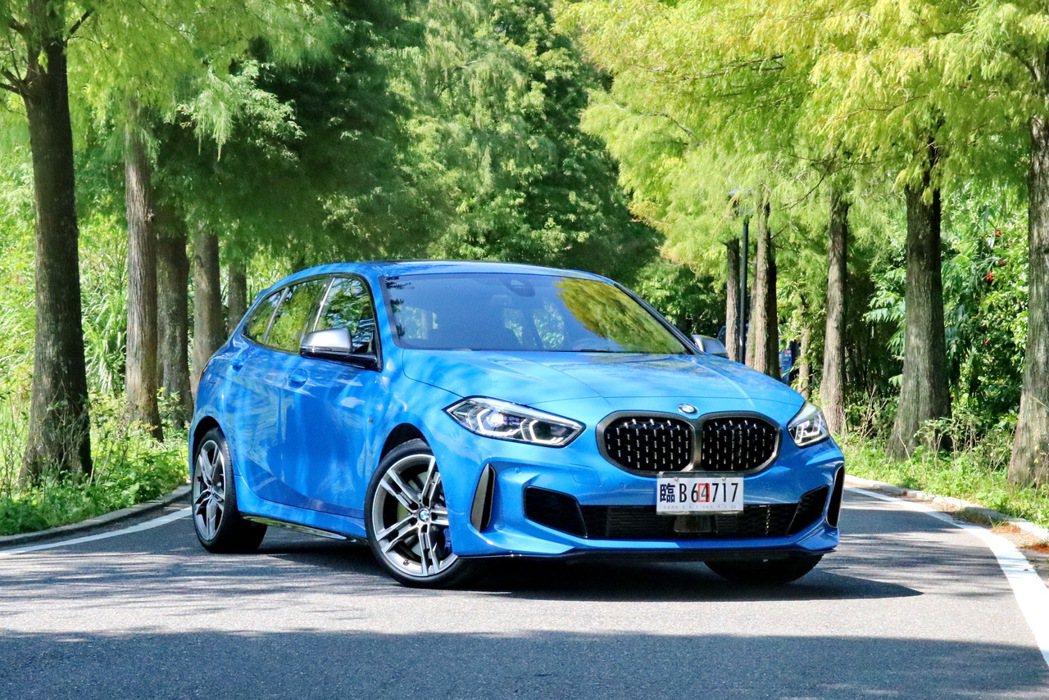 BMW 1系列依然是豪華掀背車的經典之作。 記者陳威任/攝影