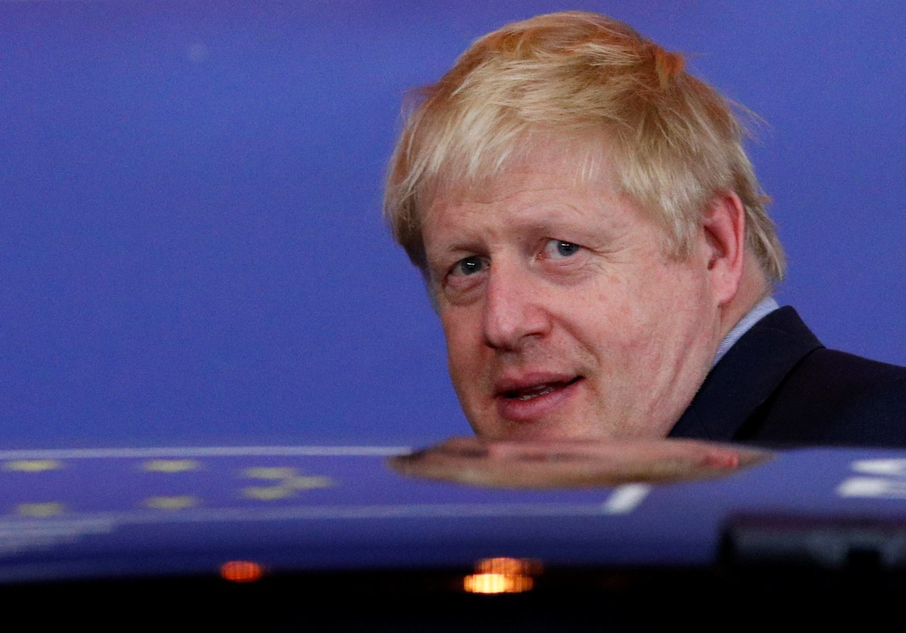 英國首相強生欲在19日「超級星期六」通過歷史性脫歐協議的期望再添變數。 路透