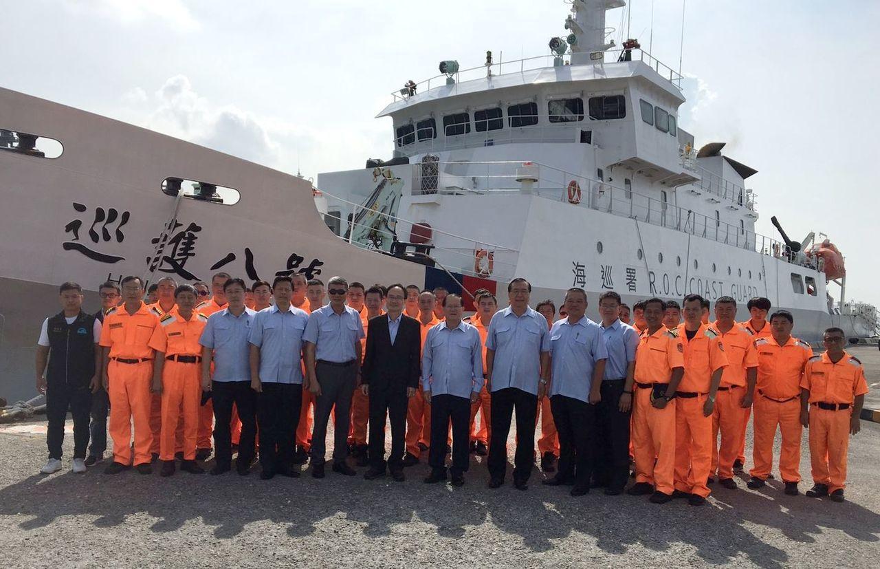 9月17日出海護漁的巡護八號。記者林保光/翻攝