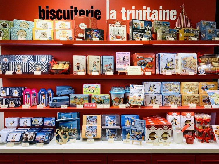 LT法國布列塔尼餅乾提供各式精美禮盒。記者張芳瑜/攝影