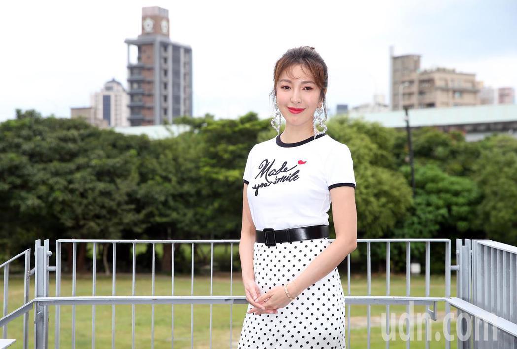楊謹華今天出席在光點華山電影院舉行的首場特映會。記者徐兆玄/攝影
