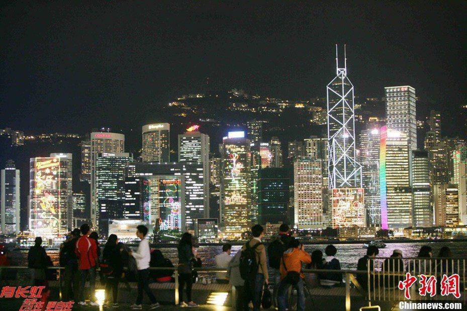 圖為香港夜景。中新網資料照片