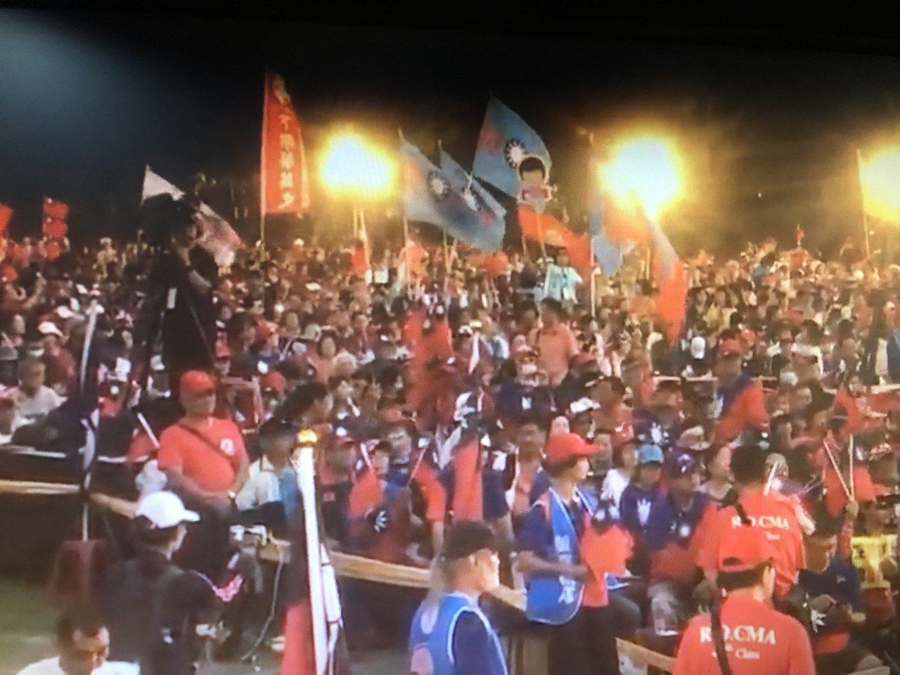 韓國瑜台南造勢大會熱鬧滾滾。記者魯永明/翻攝