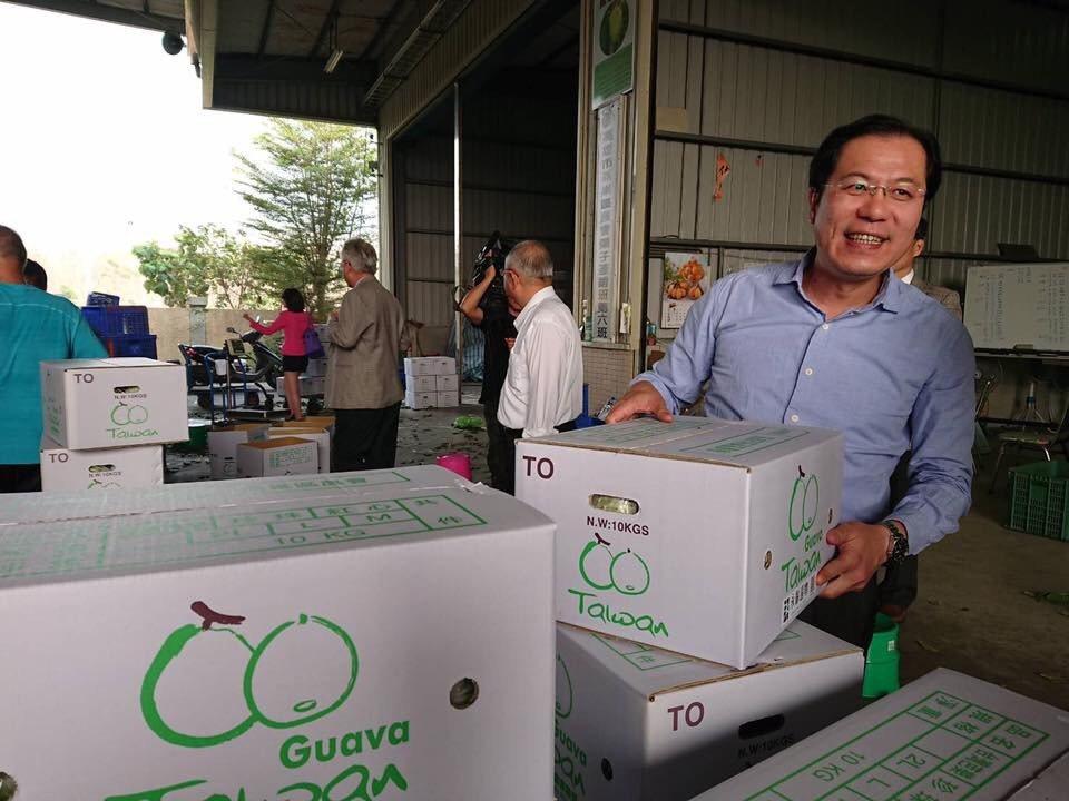高雄市農業局長吳芳銘今天在臉書說,正在整合高雄市的農會合作社成立番石榴外銷平台,...