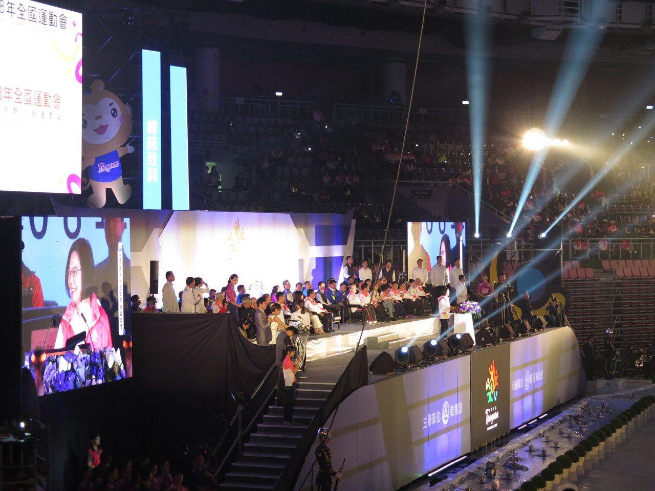 全國運動會睽違20年回到桃園舉辦,今晚開幕,蔡英文總統出席。記者張裕珍/攝影