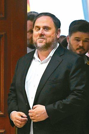 加泰隆尼亞獨派領袖璜克拉斯。 法新社