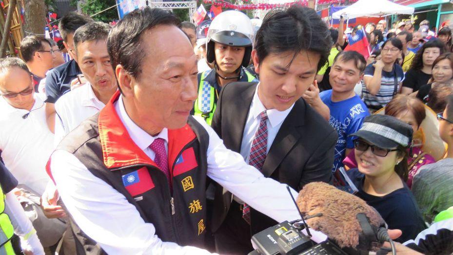 鴻海集團創辦人郭台銘,將以「優先支持、少量自提」原則,搶攻立院席次。 圖/聯合報系資料照片