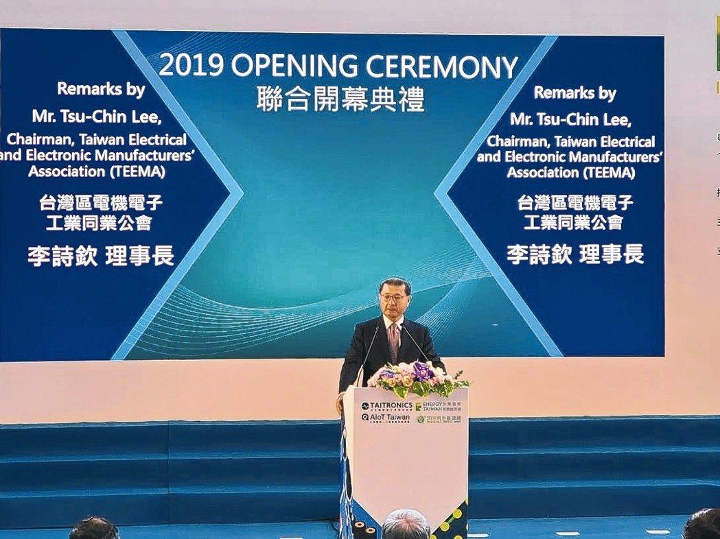 電電公會理事長李詩欽積極導入數位化轉型,為電子產業注入新活水。 吳毅倫/攝影