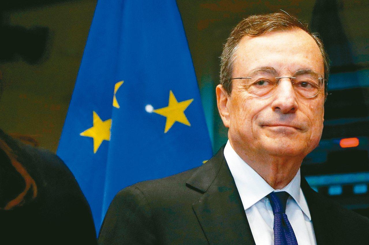 ECB總裁德拉基將在月底卸任。 (路透)