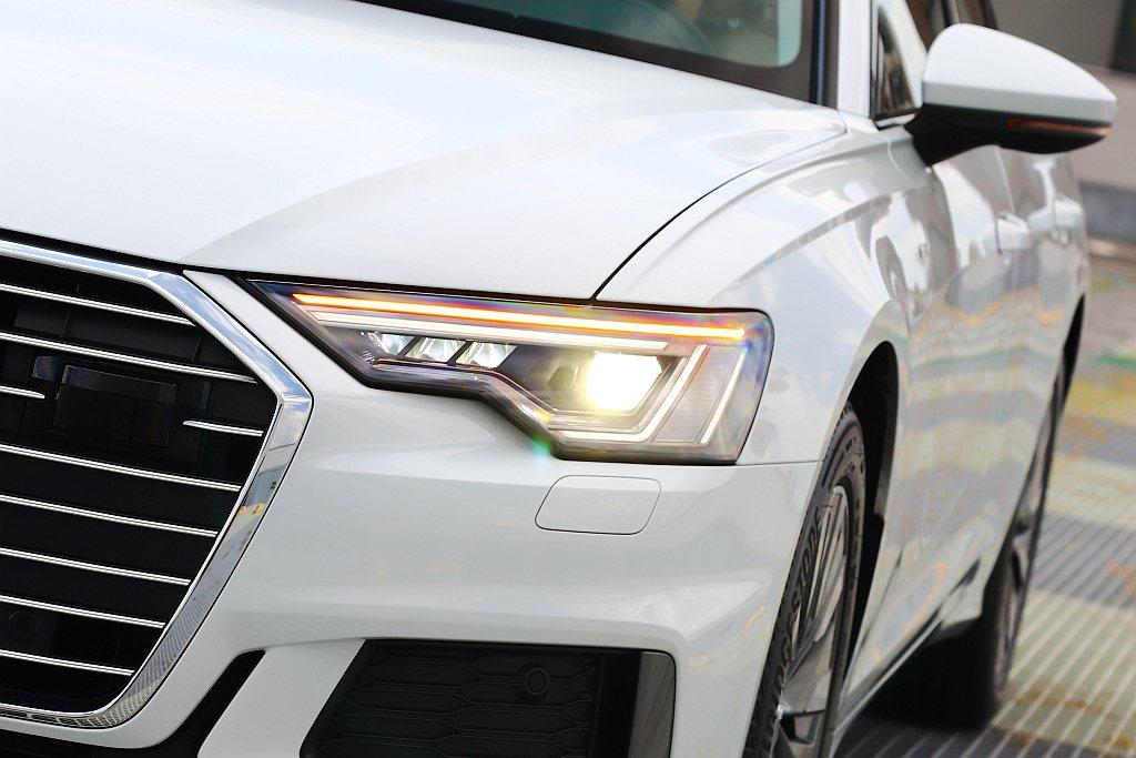 在Audi Taiwan極力爭取下新世代Audi A6標配Matrix LED頭...
