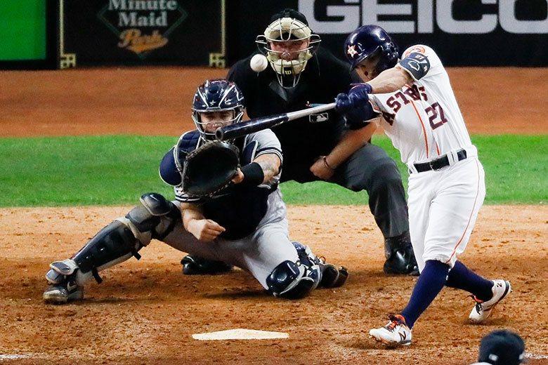 太空人二壘手亞土維在九局下轟出石破天驚的2分砲,讓洋基今年的季後賽之旅停在美聯冠...