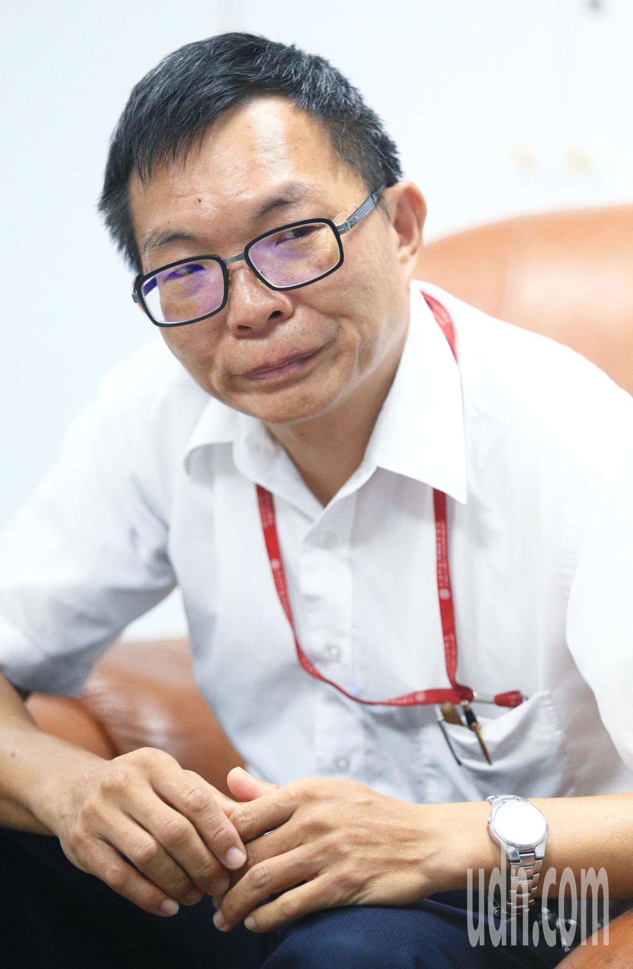 台鐵宜蘭機務分段分段長黃宗賢。記者陳正興/攝影