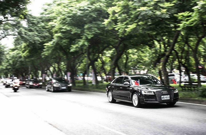 Audi A8車系再度獲得青睞,將成下任總統專屬座車。台灣奧迪提供