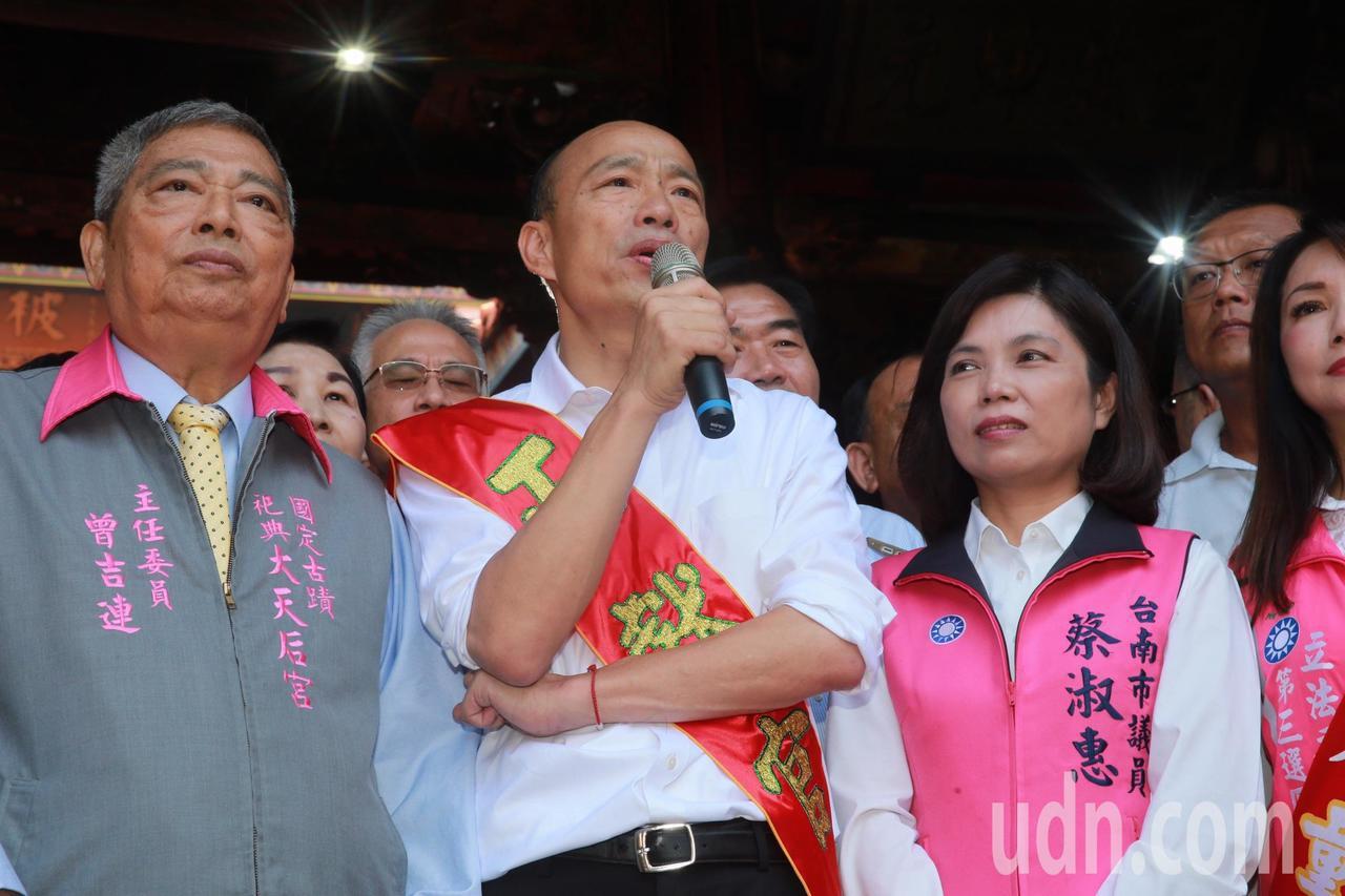 國民黨總統參選人韓國瑜。聯合報系記者黃義書/攝影
