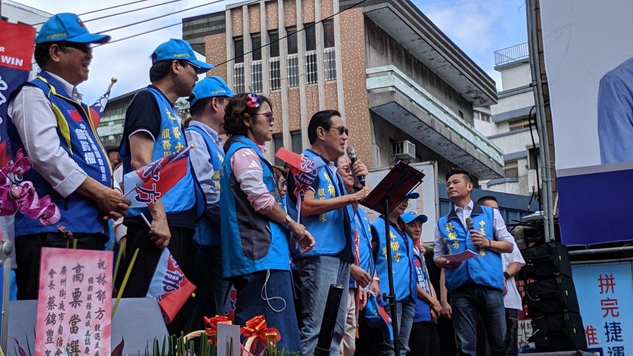 前總統馬英九上次幫立委參選人林郁方站台。記者蔡佩芳/攝影