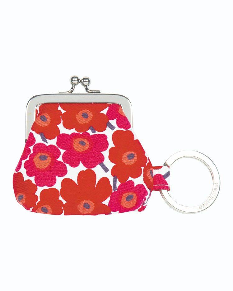 Unikko鑰匙零錢包(紅),1,190元。圖/Marimekko提供