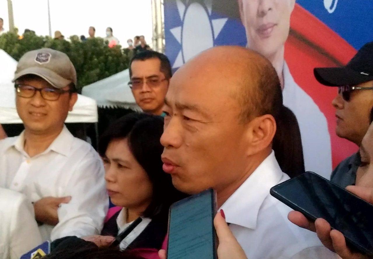 國民黨總統參選人韓國瑜說,司法管轄權也是主權的一部分,一個外國人來台灣殺人後跑掉...