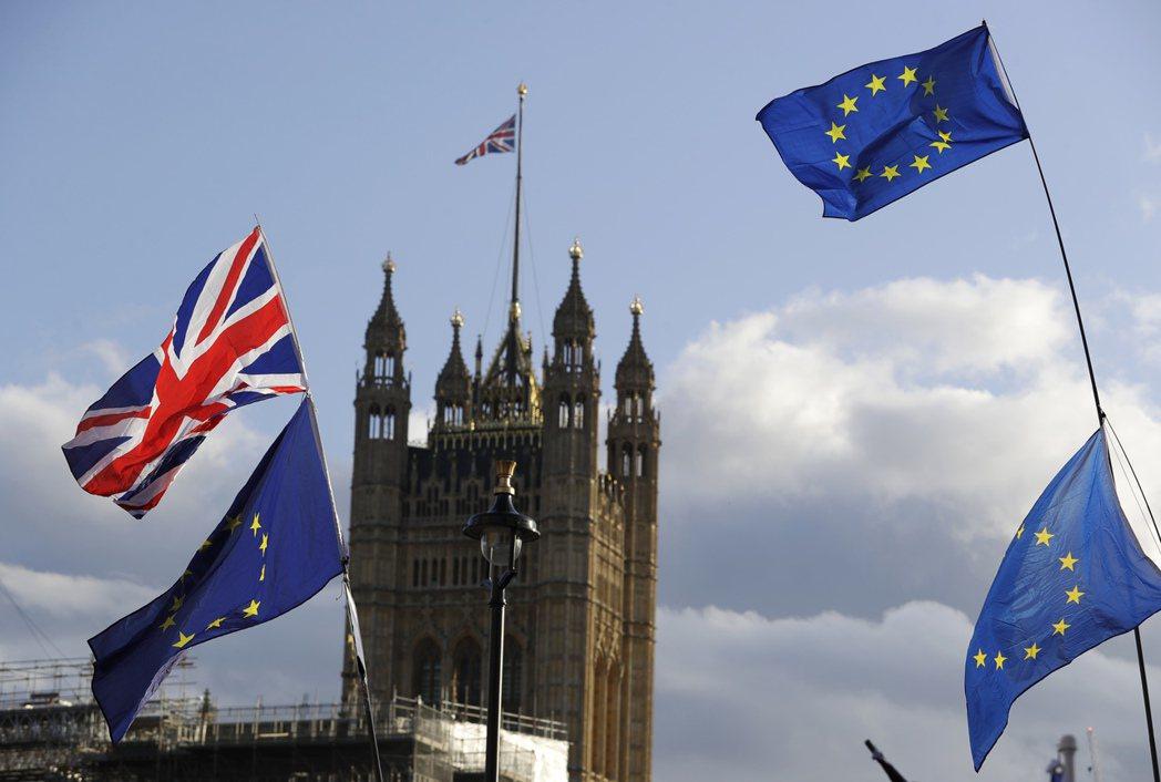 英國距離月底脫歐期限只剩下11天。美聯社