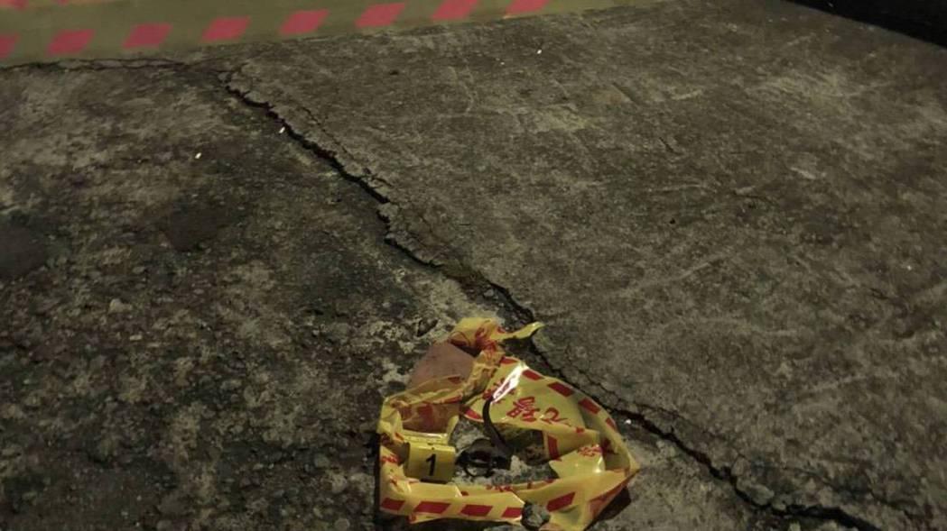爆裂物經初步勘驗,研判疑為軍方火箭未爆彈,至於詳細的彈種正由軍警調查釐清。 圖/...