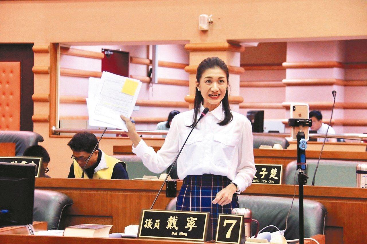 嘉義市議員戴寧在鴻海創辦人郭台銘的支持下,有可能投入選戰。 圖/聯合報系資料照片