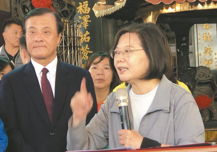 蔡英文總統致詞時,立法院長蘇嘉全若有所思。 記者陳秋雲/攝影