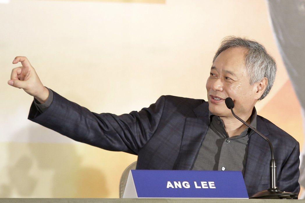 二度榮獲奧斯卡金像獎最佳導演獎的李安為宣傳新片「雙子殺手」,下午在台北文華東方舉...