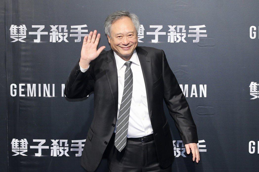 導演李安晚上出席「雙子殺手」紅毯首映。記者林伯東/攝影