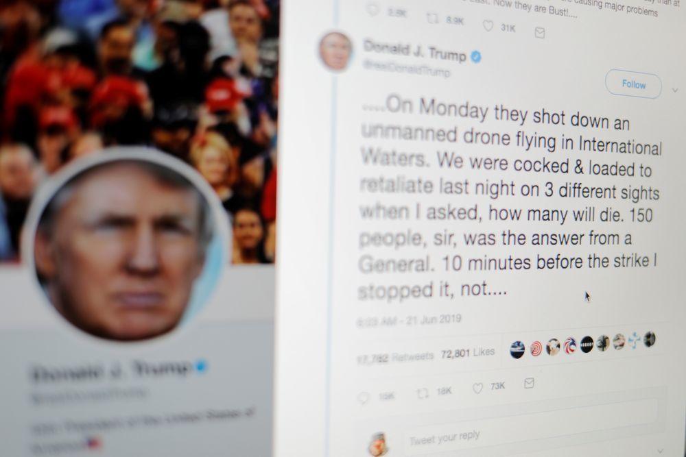 川普喜歡用誇大的方式推銷成就,在他的推特主頁上「最好」、「最大」和「最聰明」等詞...