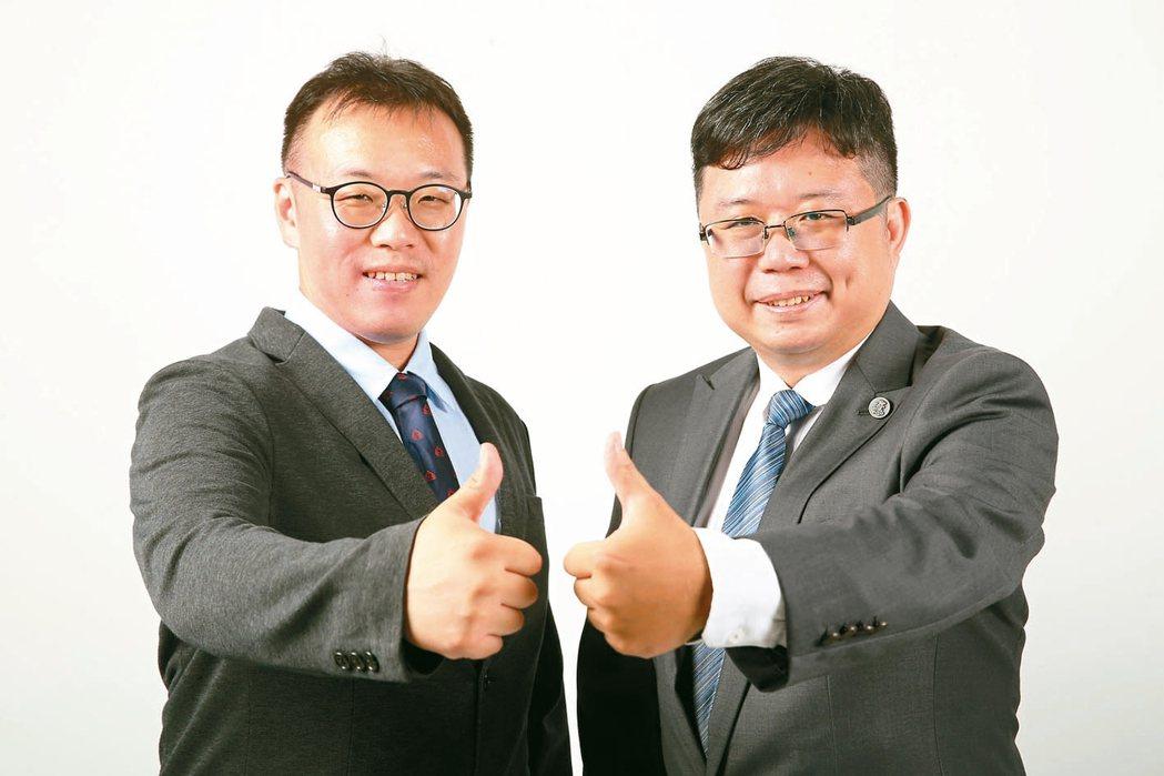 台灣量化交易協會今年8月正式成立,理事長吳牧恩(左)與副理事長林政憲(右),架構...