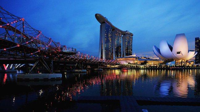 新加坡濱海灣(Marina Bay)。路透社
