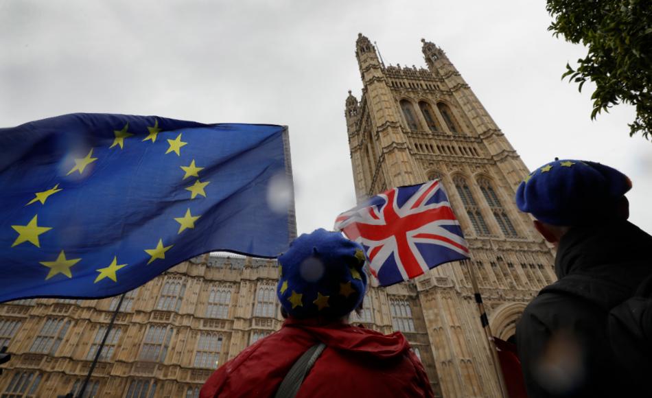 英國「星期泰晤士報」今天引述外交消息人士報導,英國首相強生的脫歐新方案若本週無法...
