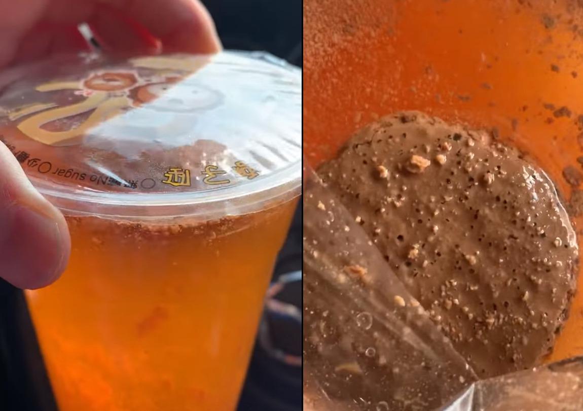 奶茶靜置24小時,居然油水分離。圖片來源/臉書