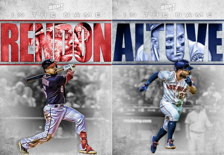 國民三壘手瑞登(左)和太空人二壘手艾土維(右)分別是兩隊今年季後賽最可靠的打者,...