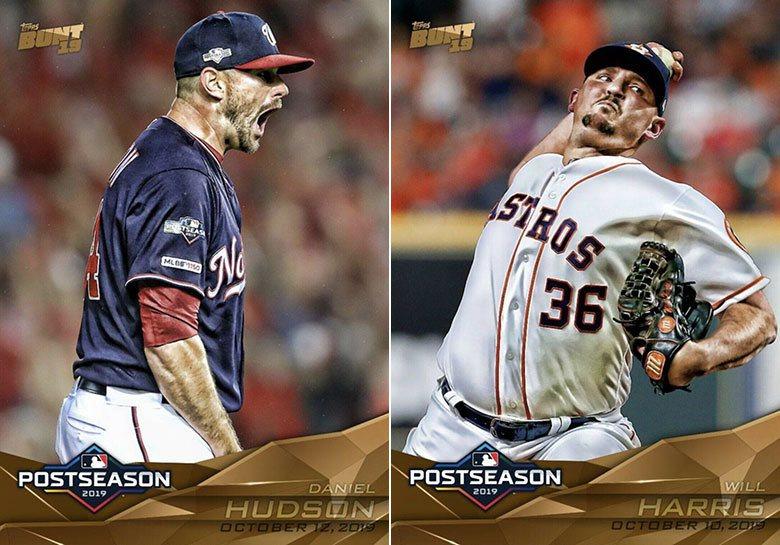 國民隊牛棚投手哈德森(左)與太空人牛棚投手哈里斯(右)在季後賽投得特別好,但太空...