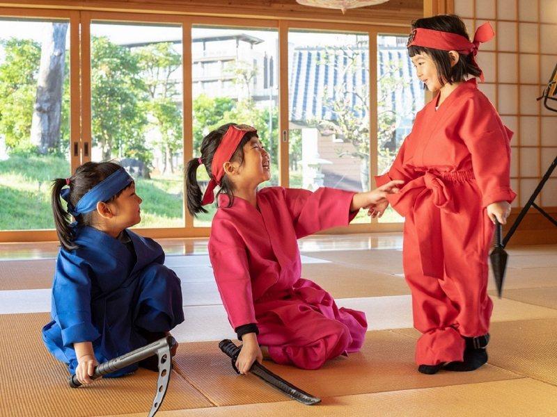 受小朋友歡迎的忍者體驗,活動範圍包括室內與戶外。 綠舞/提供