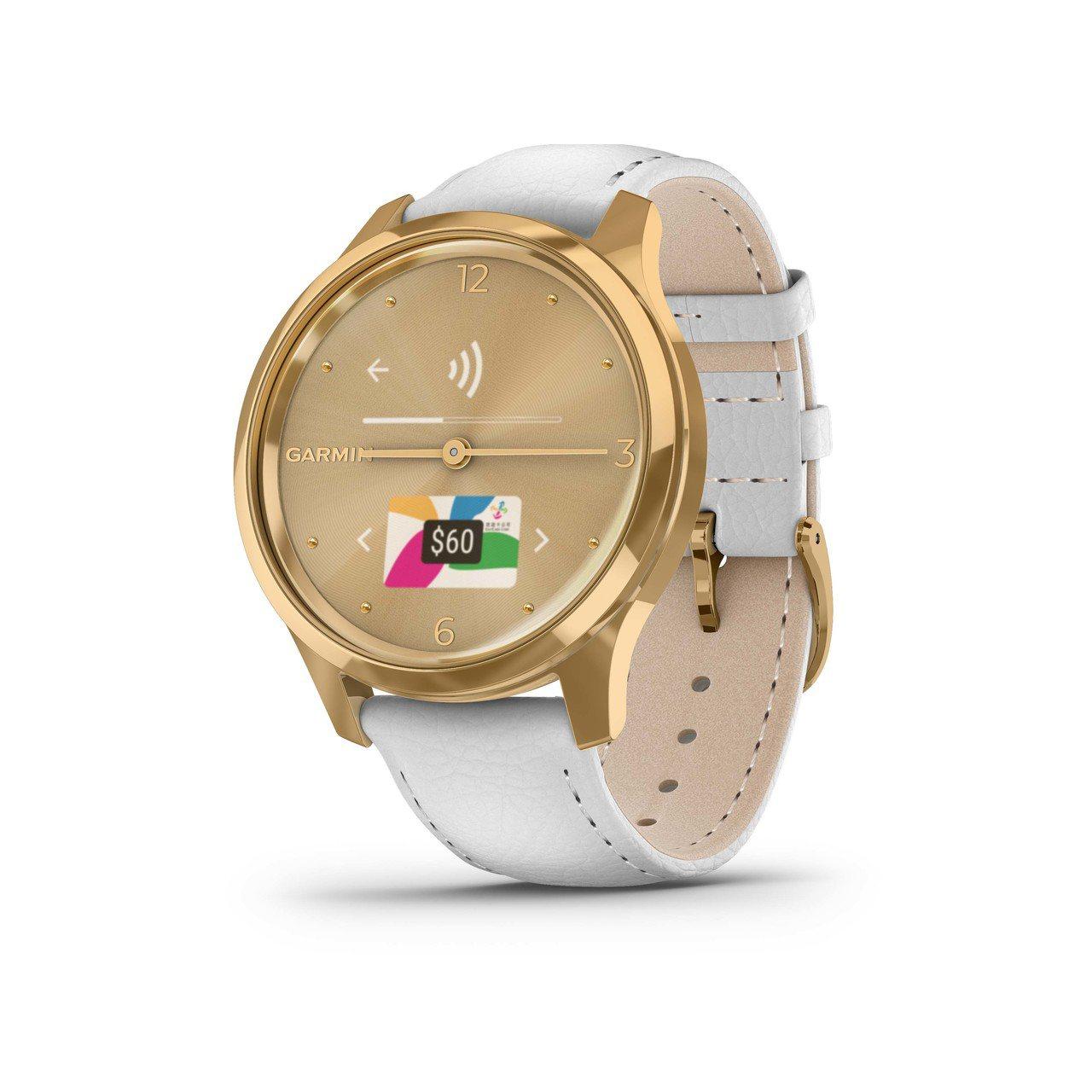 Garmin Vivomove Luxe簡白耀日金,建議售價16,990元。加入...