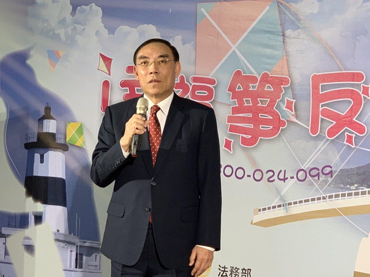 法務部長蔡清祥。記者蕭雅娟/攝影